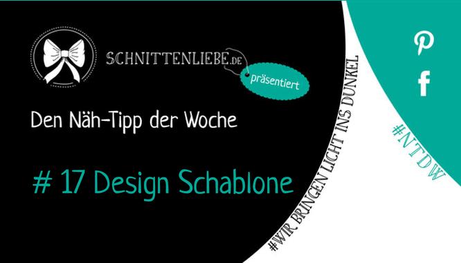 Nähtipp der Woche Nr. 17 - Design Schablone