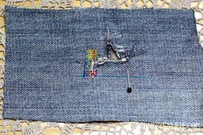 Anleitung jeans löcher stopfen schnittenliebe anfänger