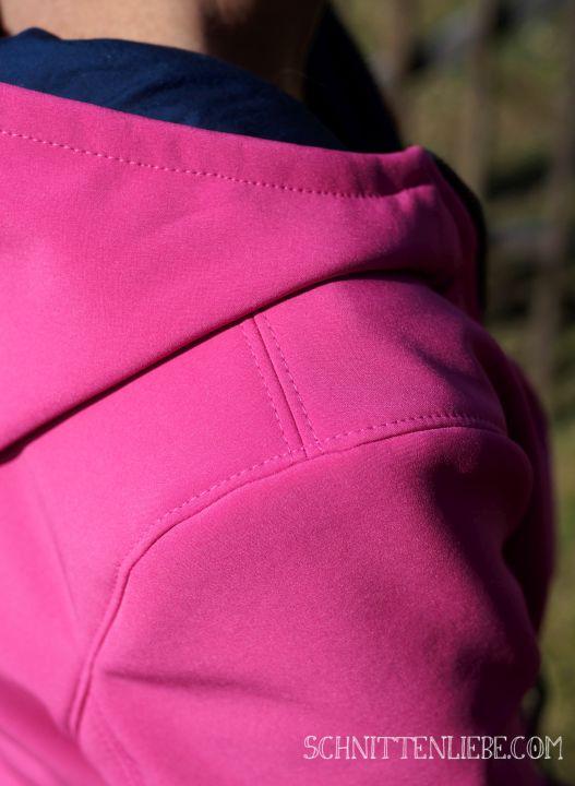 Softshell Jacke Parka Wind und Wetter Schnittenliebe Pink Stoffkontor