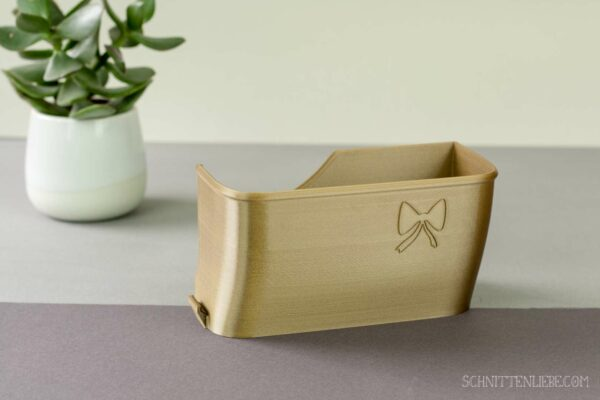 Schnittenliebe 3D collecting container Gritzner 788 old gold