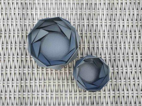 Schnittenliebe 3D print succulent plant pots metallic