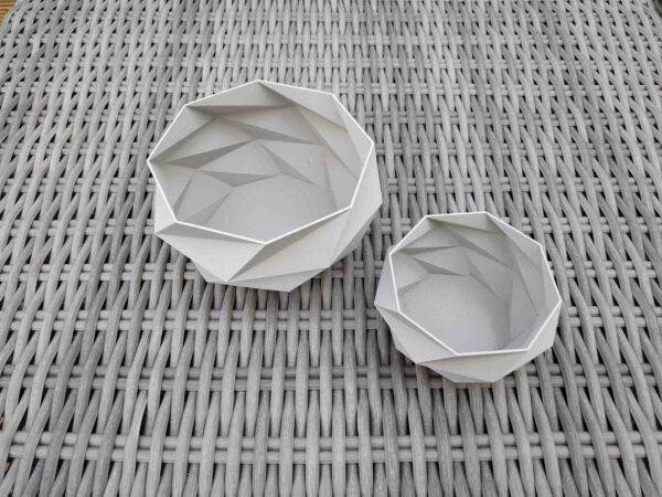 Schnittenliebe 3D Druck Sukkulententöpfe beton grau