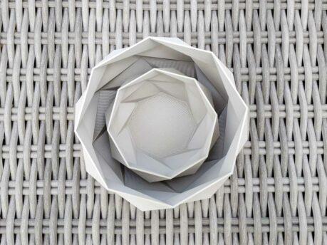 Schnittenliebe 3D print succulent plant pots cement grey