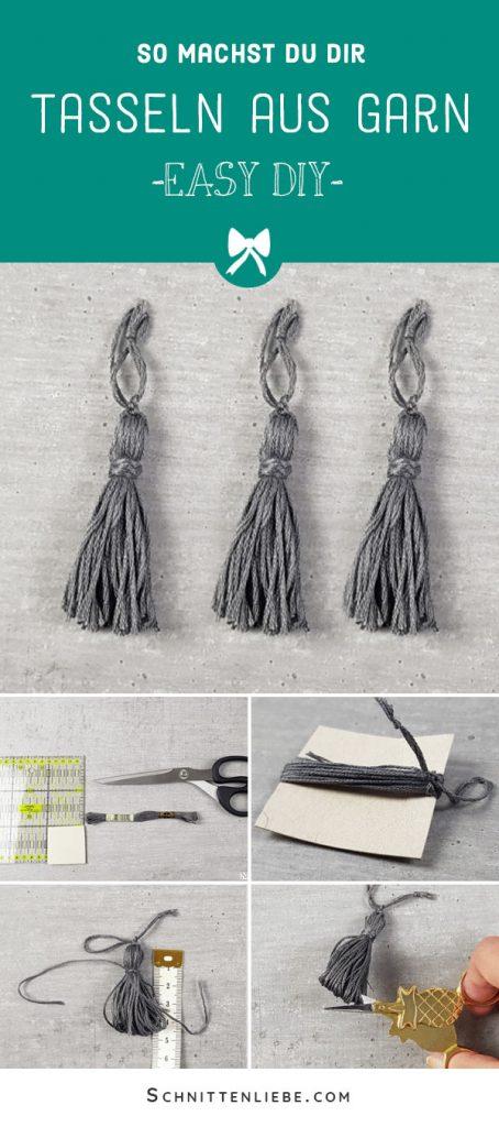 Tasseln aus Stickgarn selber basteln - DIY Anleitung