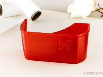 Schnittenliebe 3D Auffangbehälter Weihnachten Aktion transparent rot