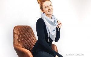 Einfaches Halstuch mit Tasseln nähen - DIY Anleitung für Nähanfänger