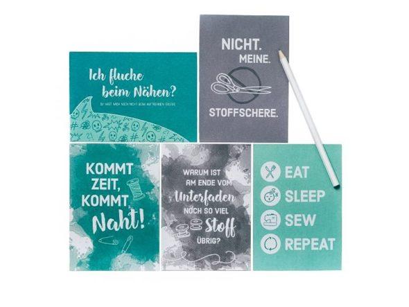 Postkarten-Nähen-Nähsprüche-Pack