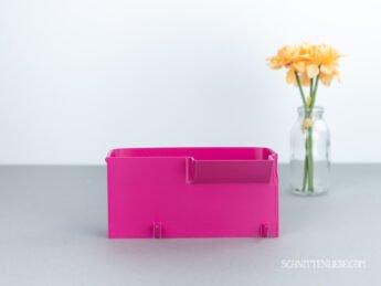 schnittenliebe auffangbehälter 3d druck schleife Brother Lock 2104D pink