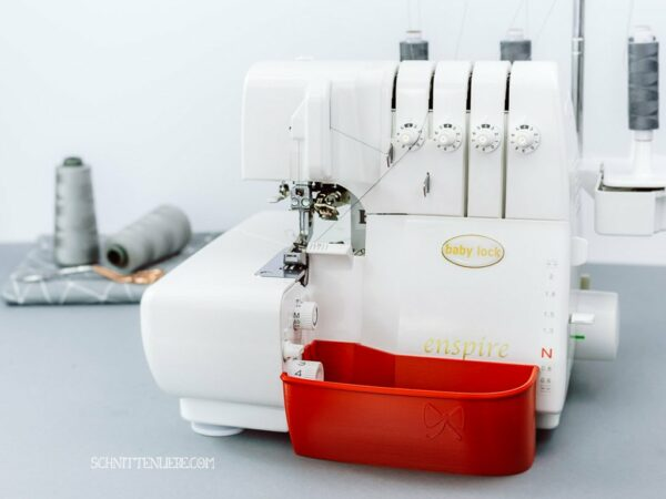 schnittenliebe auffangbehälter overlock nähmaschine 3D Druck feuerrot