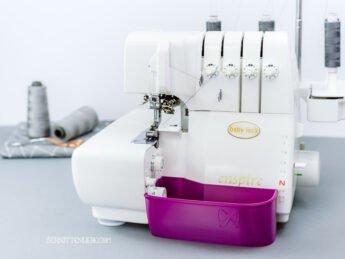 schnittenliebe auffangbehälter 3D Druck overlock babylock baby lock enspire purpur