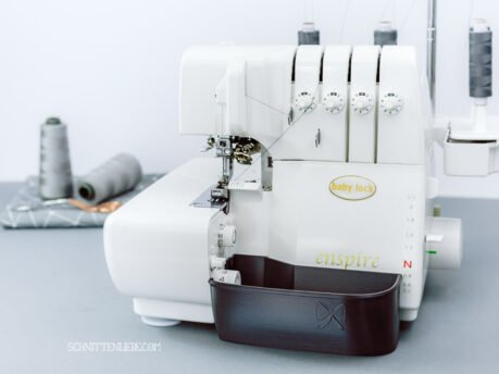 schnittenliebe auffangbehälter 3D Druck overlock babylock baby lock enspire metallic grau