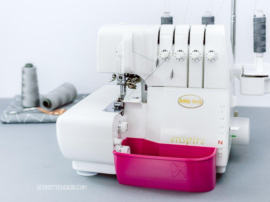 schnittenliebe auffangbehälter 3D Druck overlock babylock baby lock enspire pink