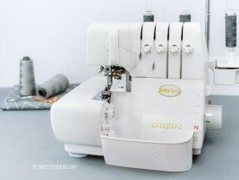 schnittenliebe auffangbehälter 3D Druck overlock babylock baby lock enspire weiß