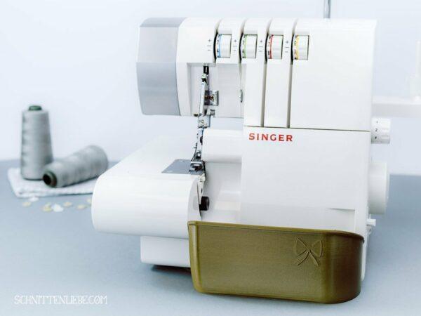 auffangbehälter overlock singer 14sh754 altgold