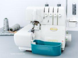 schnittenliebe auffangbehälter 3D Druck overlock babylock baby lock enspire petrol türkis
