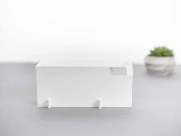 Auffangbehälter fadenreste coverlock pfaff hobbylock 2.5 weiß