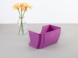 schnittenliebe auffangbehälter stoffreste overlock elna 664 pro lila purpur