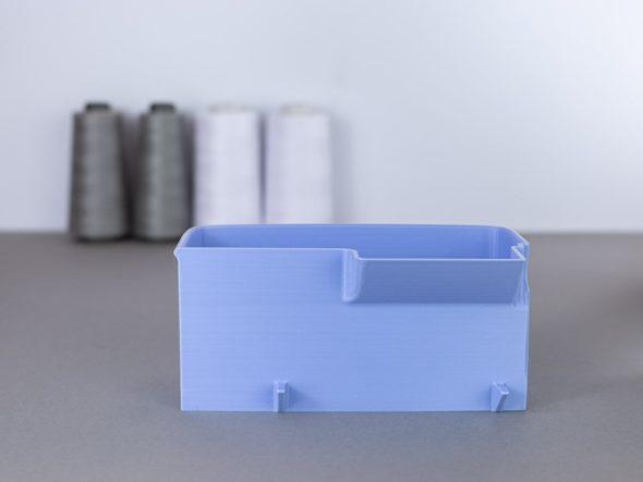 schnittenliebe auffangbehälter stoffreste overlock brother 2104d flieder
