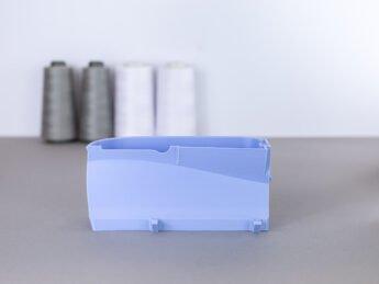 schnittenliebe auffangbehälter stoffreste overlock singer S14-78 flieder
