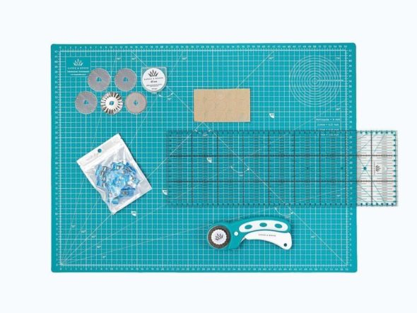 schneidematten set lineal basteln stoff schnittenliebe petrol a2