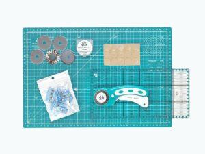 schneidematten set lineal basteln stoff schnittenliebe petrol a3