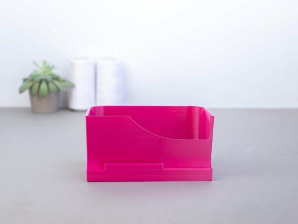 stoffreste auffangen auffangbehaelter overlock janome 8002D pink