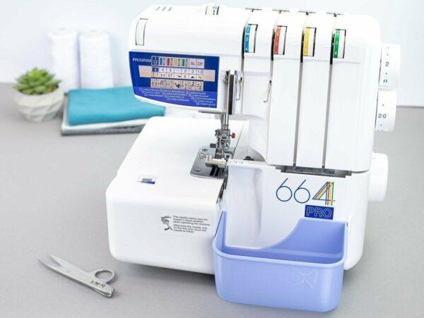 schnittenliebe stoffreste auffangen overlock elna 668 pro auffangbehälter flieder