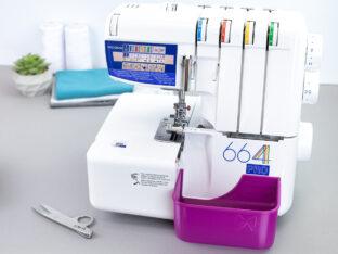 schnittenliebe stoffreste auffangen overlock elna 668 pro auffangbehälter lila purpur