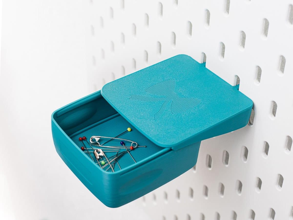sew organiced lochwand box magnetische einlage petrol