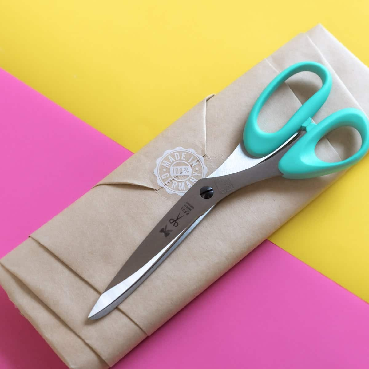 linkshänderschere stoff papier türkis schnittenliebe