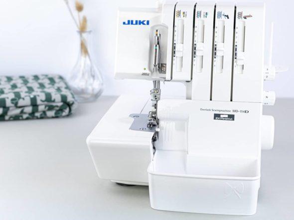 juki mo 114D overlock auffangbehälter schnittenliebe weiß