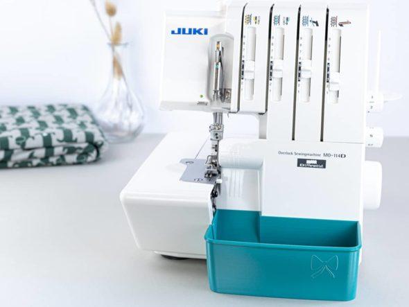 juki mo 114D overlock auffangbehälter schnittenliebe teal