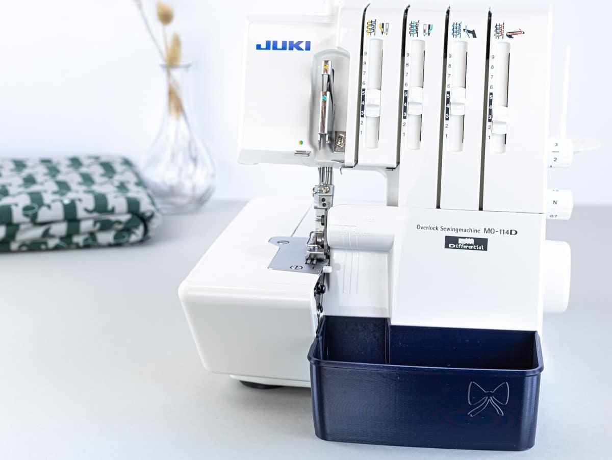 juki mo 114D overlock auffangbehälter schnittenliebe navy blue