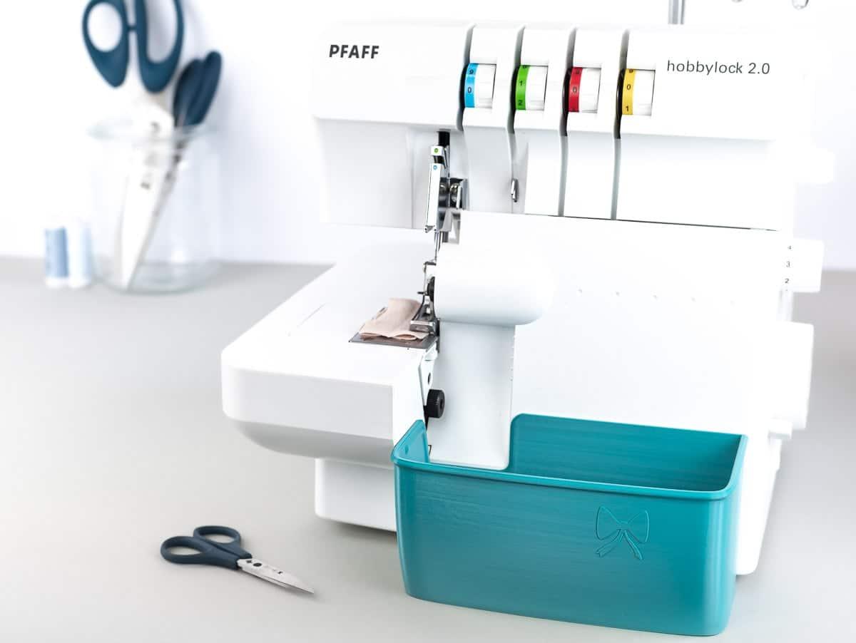 pfaff hobbylock 2.0 auffangbehälter overlock teal