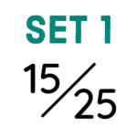 Set 1: 15/25mm Saumbreite