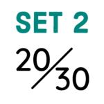 Set 2: 20/30mm Saumbreite